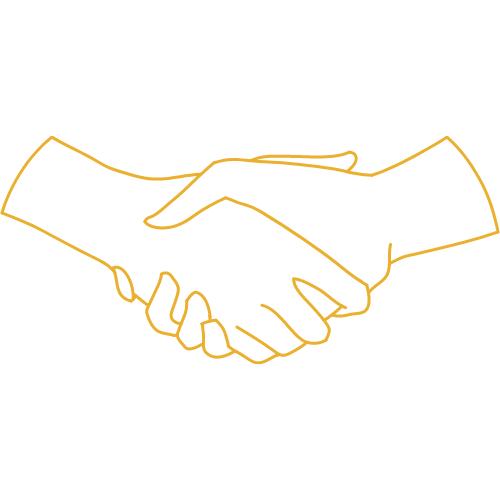 Représentation de l'accessibilité (deux mains qui se serrent)